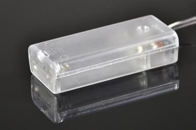 20er LED Lichterkette warm weiss Innen Weihnachtsbeleuchtung Deko Batterie – Bild 3