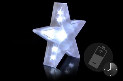 PVC Stern 3 D Hologramm Effekt Weihnachtsstern 35 cm Batterie mit Timer 20 LED – Bild 1