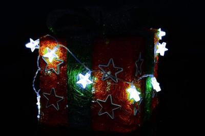 3er Set 20er LED Lichterkette weiss Baum Flocke Stern Weihnachten Deko Batterie – Bild 7