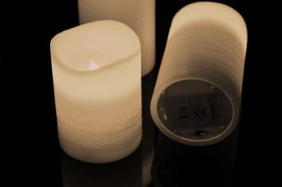 3 LED Echt Wachs Kerzen Set mit Fernbedienung  – Bild 2