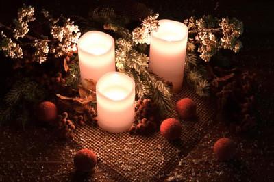 3 LED Echt Wachs Kerzen Set mit Fernbedienung  – Bild 4
