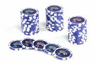 50 Poker Chips ABGERUNDETE KANTEN Wert 10 Casino 001