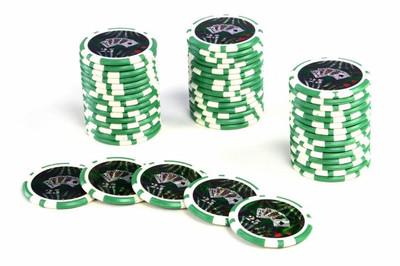 50 Poker Chips ABGERUNDETE KANTEN Wert 25 Casino