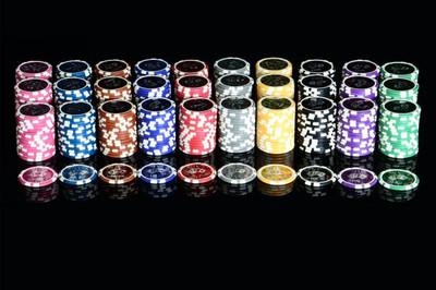 50 Poker Chips ABGERUNDETE KANTEN Wert 25 Casino – Bild 4