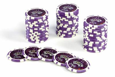 50 Poker Chips ABGERUNDETE KANTEN Wert 500 Casino