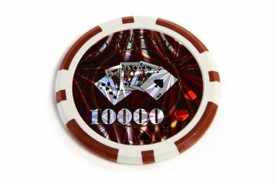 50 Poker Chips ABGERUNDETE KANTEN Wert 10000 Casino – Bild 2
