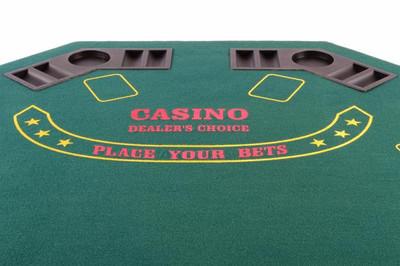 Casino Pokertisch 8eckig für 8 Personen mit Getränkehalter klappbar – Bild 2
