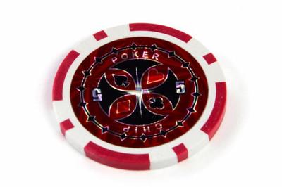 50 Poker Chips Wert 5 11g für Pokerkoffer – Bild 2