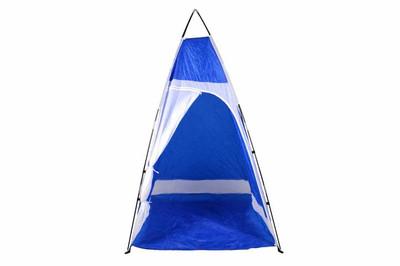 Duschkabine Duschzelt Camping blau weiss Gerätezelt – Bild 3