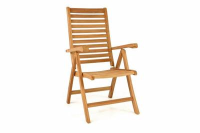 DIVERO Stuhl Teak Holz klappbar massiv Gartenstuhl Teakstuhl Holzstuhl behandelt – Bild 1
