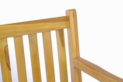 DIVERO 3-Sitzer robuste Gartenbank massiv Teak Holz Handarbeit 150 cm – Bild 2