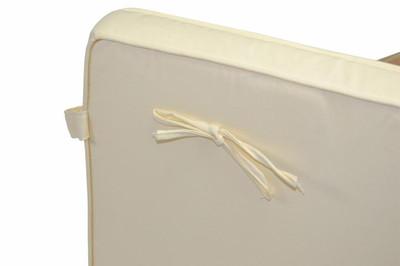 2-er Sitzauflage Polster Deckchair Steamer Holzliege Liegestuhl hochwertig creme – Bild 3