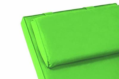 Sitz-Auflage Polster für Deckchair Steamer Holzliege Liegestuhl hochwer hellgrün – Bild 2