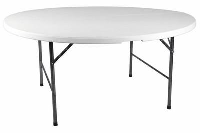Partytisch Tisch rund Gartentisch klappbar 160 cm – Bild 1