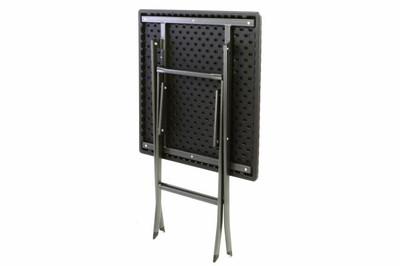 Tisch in Rattan-Optik Balkontisch Gartentisch 75 x 61 x 61 cm klappbar schwarz – Bild 4