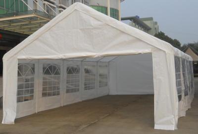 Hochwertiges Festzelt Partyzelt Bierzelt Gartenzelt Pavillon weiss 5x10 m gross PE 180 g/m² – Bild 1