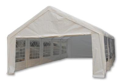 Hochwertiges Festzelt Partyzelt Bierzelt Gartenzelt Pavillon weiss 5x10 m gross PE 180 g/m² – Bild 2