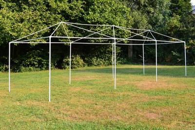Pavillon Partyzelt Raucherzelt blau weiss 3x9m PE 110g/m² Gartenzelt Festzelt Eventzelt Marktzelt – Bild 7