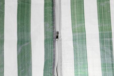 Pavillon Partyzelt 3x3m grün weiss wasserdicht +4 Seitenteile Gartenzelt Eventzelt Marktzelt Festzelt – Bild 5