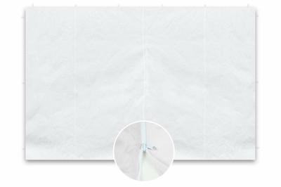 2 Seitenteile ohne Fenster für PROFI Falt Pavillon 3x3 m weiss Polyester 180 g/m² Reissverschluss – Bild 1