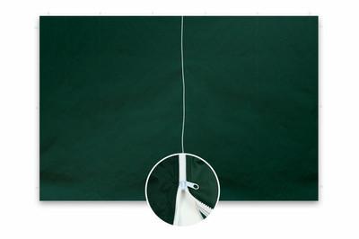 2 Seitenteile ohne Fenster für PROFI Falt Pavillon 3x3 m grün Polyester 180 g/m² Reissverschluss – Bild 1
