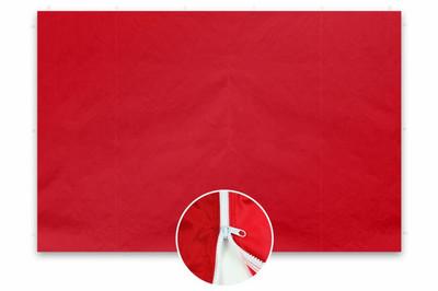 2 Seitenteile ohne Fenster für PROFI Falt Pavillon 3 x3 m rot Polyester 180 g/m² mit Reissverschluss – Bild 1