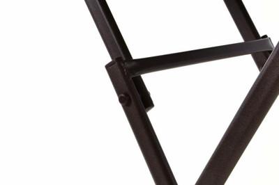 Bistro Tisch mit Glasplatte klappbar Terrassentisch Gartentisch Glastisch braun – Bild 7