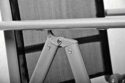 3er Set Garnitur 2 Klappstühle + 1 Klapptisch Sitzgruppe Glastisch schwarz Balkonset Gartengarnitur – Bild 4