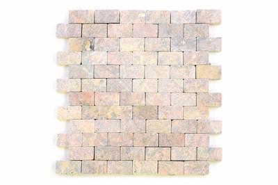 DIVERO Marmor Naturstein-Mosaik Fliesen für Wand Boden rot 11 Matten 33 x 33cm – Bild 1