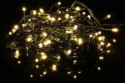 LAGERABVERKAUF!!! 100er LED-Lichterkette warm weiss Partybeleuchtung Weihnachtsbeleuchtung Innen – Bild 2