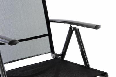 2er Set Klappstuhl schwarz Aluminium Campingstuhl Gartenstuhl Balkonstuhl Rahmen anthrazit – Bild 6