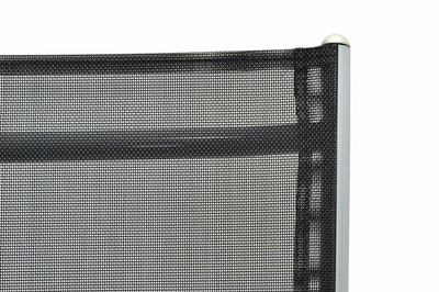 4er Set Klappstuhl schwarz Aluminium Gartenstuhl Campingstuhl Rahmen silber verstellbar – Bild 7