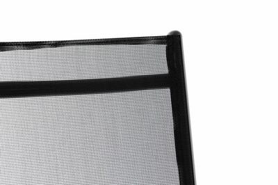 4er schwarz Set Klappstuhl Gartenstuhl Aluminium Campingstuhl Rahmen anthrazit Hochlehner – Bild 4