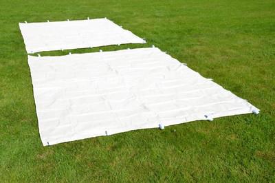 PROFI Falt Pavillon mit 4 Seitenteilen 3x3m champagner wasserdichtes Dach 270 g/m² Partyzelt – Bild 4