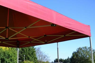 PROFI Falt Pavillon mit 4 Seitenteilen 3x3m burgund rot wasserdichtes Dach 270 g/m² Partyzelt – Bild 8