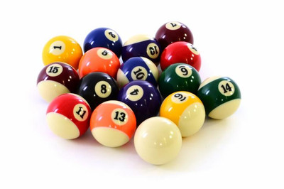 16 Pool Billardkugeln 57,2 mm Billard Satz komplett Billiardkugeln Billard Set – Bild 1