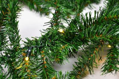 Weihnachtsgirlande mit 35er LED Lichterkette mit Timer 2,7 m Weihnachtsdeko – Bild 5