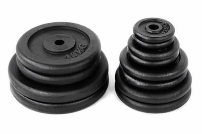 Hantelscheibe 2er Set Gewichtsplatte je 2,5 Kg schwarz 5 kg – Bild 3