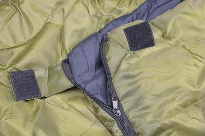 Schlafsack Appala 190 cm 170T Polyester oliv 150g/m² 15-25°C Decke Camping 900g – Bild 2