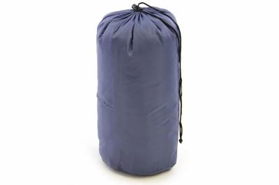 Schlafsack Karpala 190 cm 170T Polyester blaugrau 150g/m² 15-25°C Decke Camping 900g – Bild 3