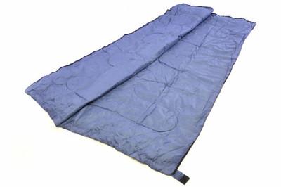 Schlafsack Karpala 190 cm 170T Polyester blaugrau 150g/m² 15-25°C Decke Camping 900g – Bild 4