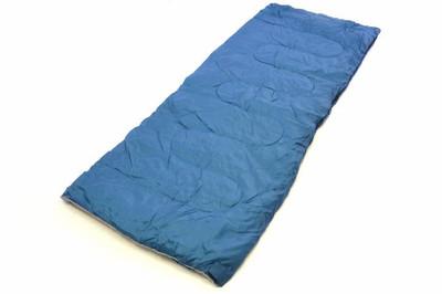 Schlafsack Maoka 190 cm 170T Polyester blaugrau 150g/m² 15-25°C Decke Camping 900g – Bild 1