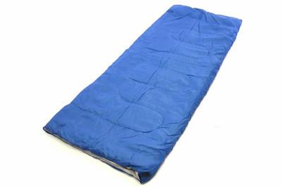Schlafsack Maoka 190 cm 170T Polyester blaugrau 150g/m² 15-25°C Decke Camping 900g – Bild 2
