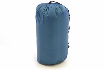 Schlafsack Maoka 190 cm 170T Polyester blaugrau 150g/m² 15-25°C Decke Camping 900g – Bild 7