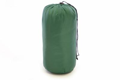 Schlafsack Anda 190 cm 170T Polyester grün 150g/m² 15-25°C Decke Camping 900g – Bild 3