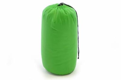 Schlafsack Alpa 200x70 cm Kapuze hellgrün 12-22°C 170T Polyester Füllung 200 g/m² 1 kg – Bild 3