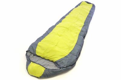 Mumienschlafsack Himala grau-gelb 210x74 cm 5-12°C Polyester 2 kg Kapuze – Bild 1