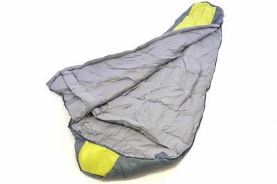 Mumienschlafsack Himala grau-gelb 210x74 cm 5-12°C Polyester 2 kg Kapuze – Bild 2