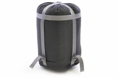 Mumienschlafsack Rocka grau-blau 210x74 cm 5-12°C Polyester 2 kg Kapuze Camping – Bild 3