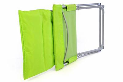 Camping Stuhl Apfelgrün klappbar Stahlrohr Gartenstuhl bis 110 kg Sessel – Bild 3